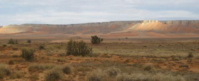 Un paseo de contrastes de color por la estepa de Belchite