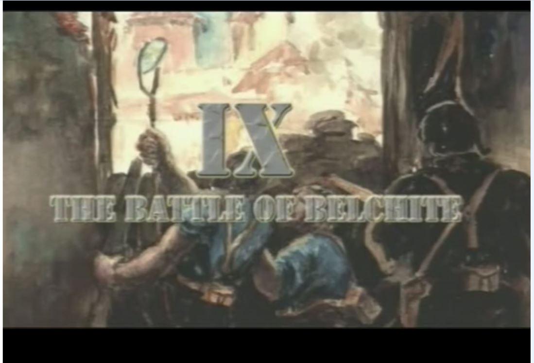 Batalla de belchite un contienda en la pantalla