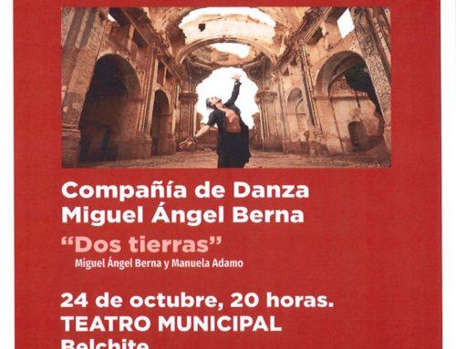 Miguel Ángel Berna actúa este sábado en el Teatro de Belchite