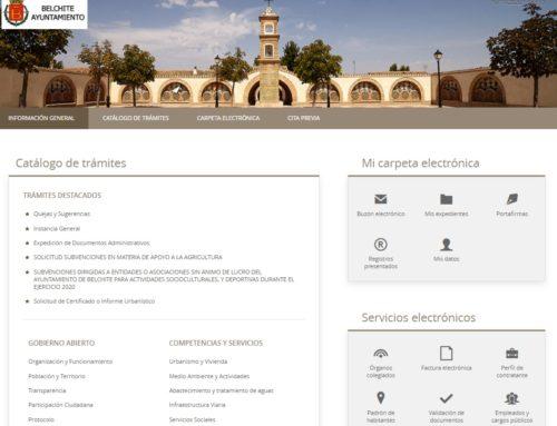 El Ayuntamiento de Belchite refuerza su sede electrónica con el servicio de cita previa